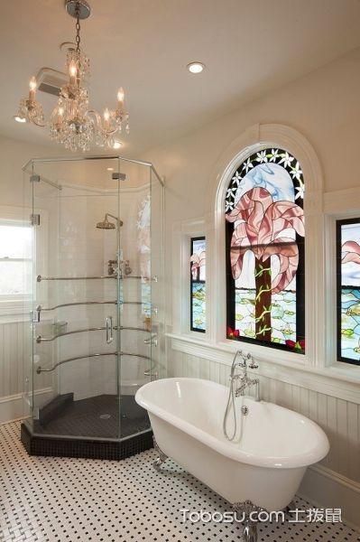 2018现代简约浴室设计图片 2018现代简约浴缸装修效果图大全
