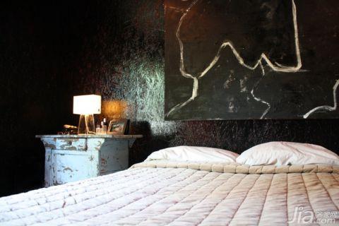雅致卧室床头柜室内效果图