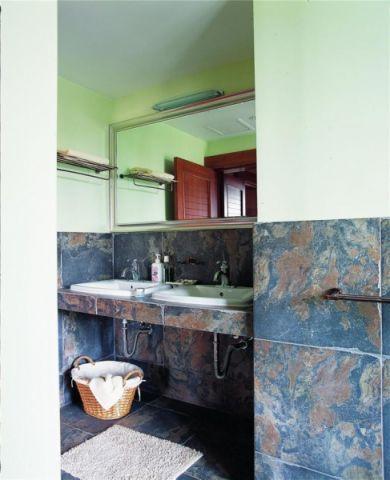 卫生间洗漱台田园装修案例图片
