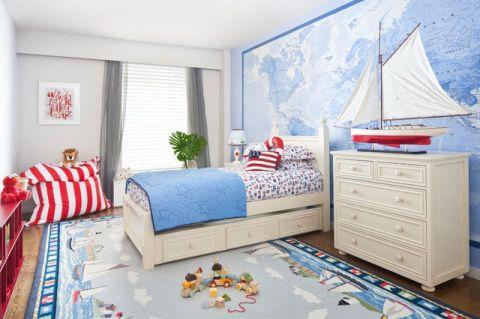 2018地中海儿童房装饰设计 2018地中海背景墙装修图