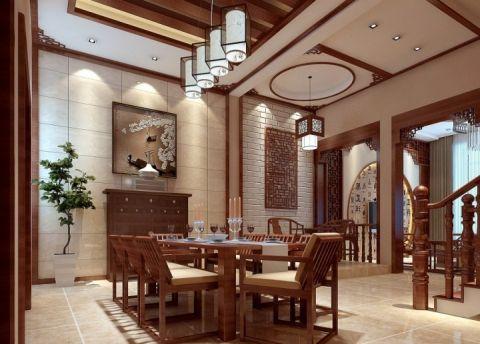 套房120平米中式风格设计方案