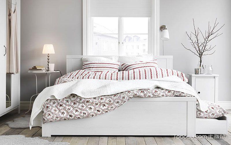 纯白素雅风 22张纯白卧室床图片