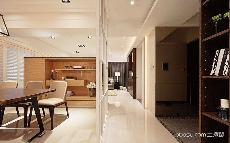 空间巧利用 17款客厅过道隔断设计