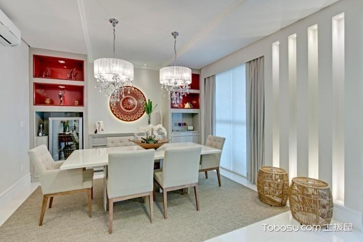 素雅餐厅设计 17张白色餐桌效果图