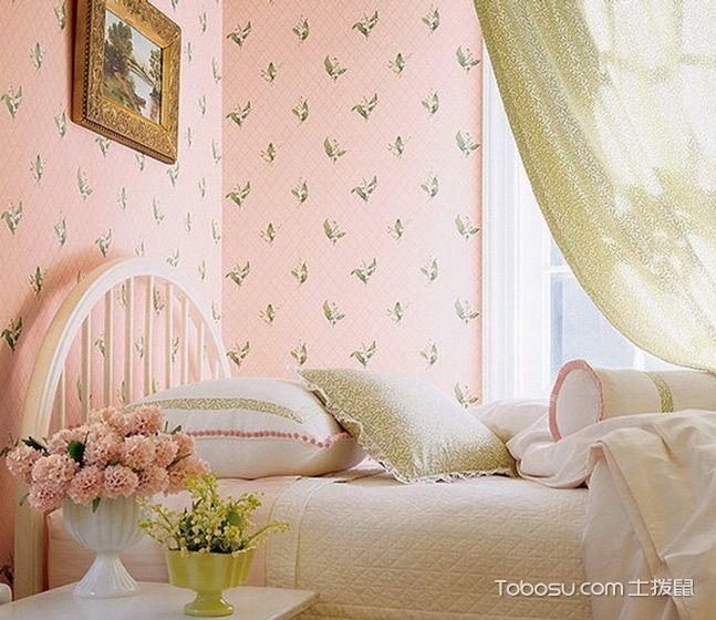 碎花打造温馨卧室 16款壁纸卧室背景墙图