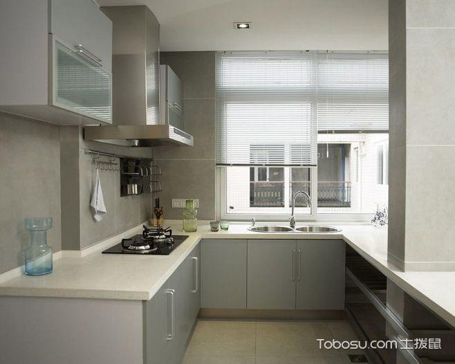 厨房灰色橱柜简约风格装潢设计图片