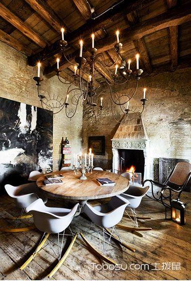 优雅餐厅简单造 21款淡色系地板图片