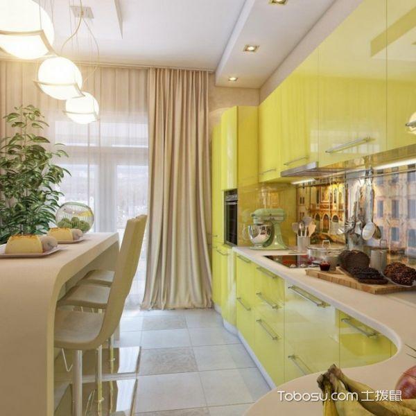小清新厨房效果图 16款彩色橱柜设计