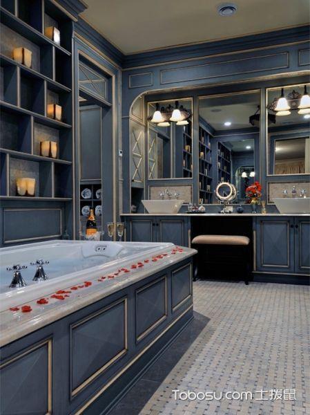 2019美式浴室设计图片 2019美式浴室柜图片