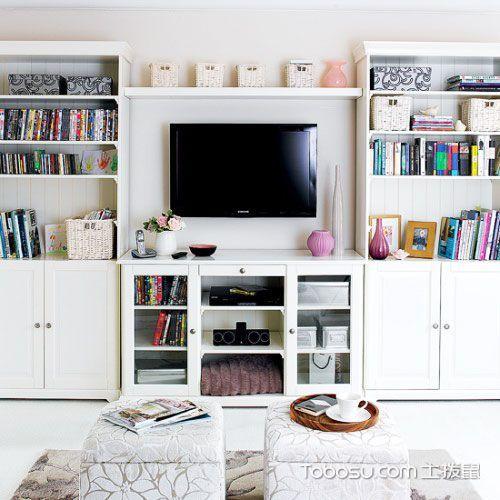 客厅也有读书角 20款书架效果图