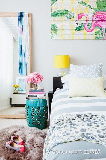卧室灰色背景墙简约风格装修效果图