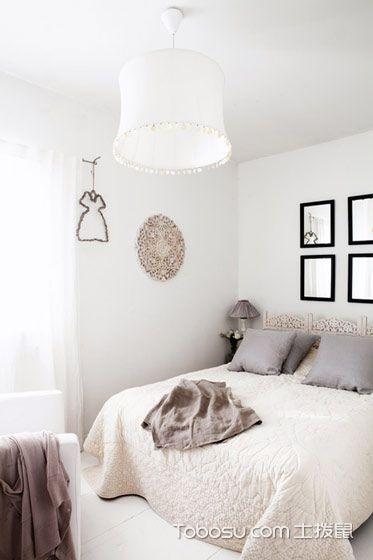 卧室白色吊顶简约风格装饰图片
