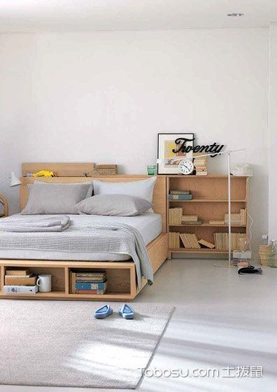 卧室黄色书架简约风格装潢图片