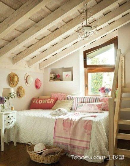 卧室黄色吊顶简约风格装修图片