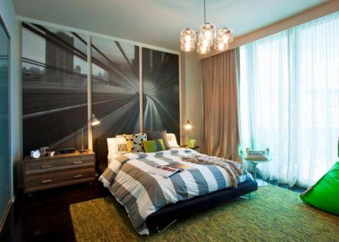 卧室窗帘混搭装饰设计图片