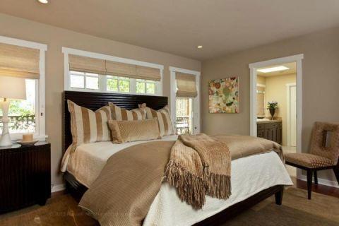 温暖黑色卧室家装设计