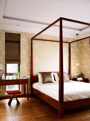 卧室背景墙中式设计方案