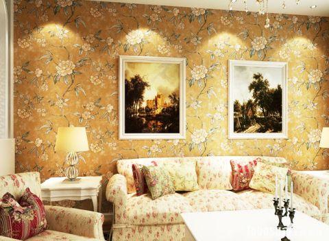 中式客厅背景墙装潢图片