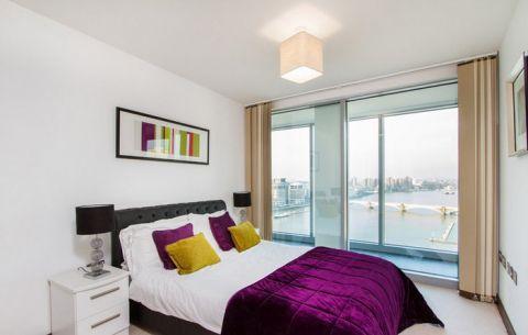 套房80平米现代风格室内效果图