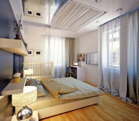 卧室窗帘现代平面图
