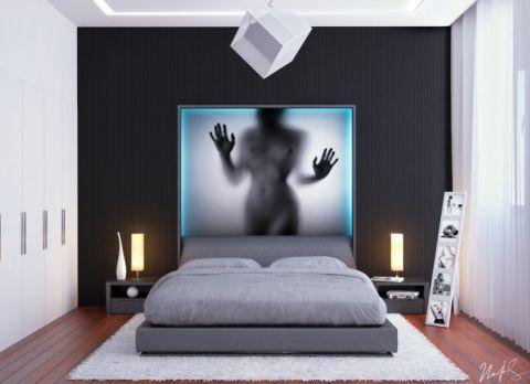 设计精巧灰色卧室装修效果图欣赏
