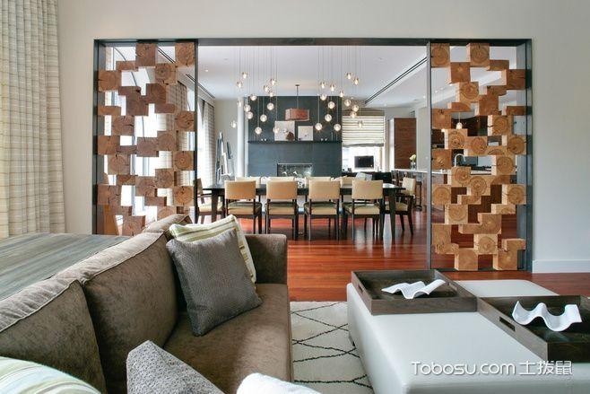 14张镂空隔断设计图 打造花样客厅
