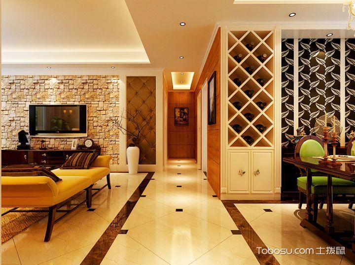 客厅与餐厅的风景线 14张中式过道设计图