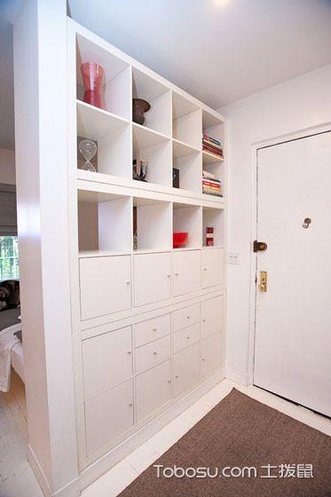 保留室内隐私 13款白色玄关柜效果图