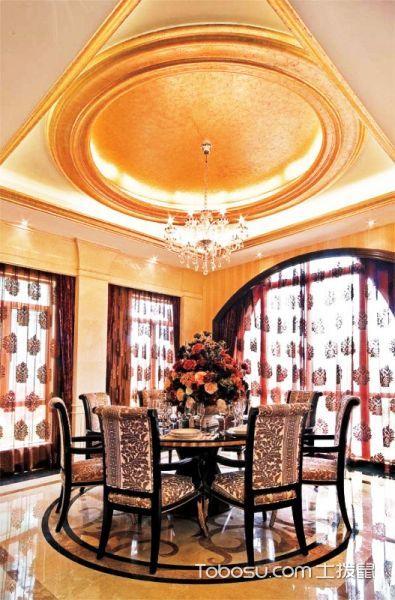 14张餐厅圆形吊顶效果图 打造一个时尚餐厅