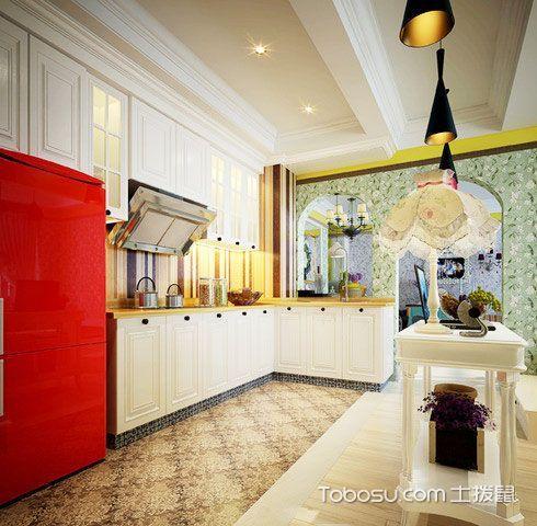 清新又浪漫 14张地中海厨房吊顶效果图