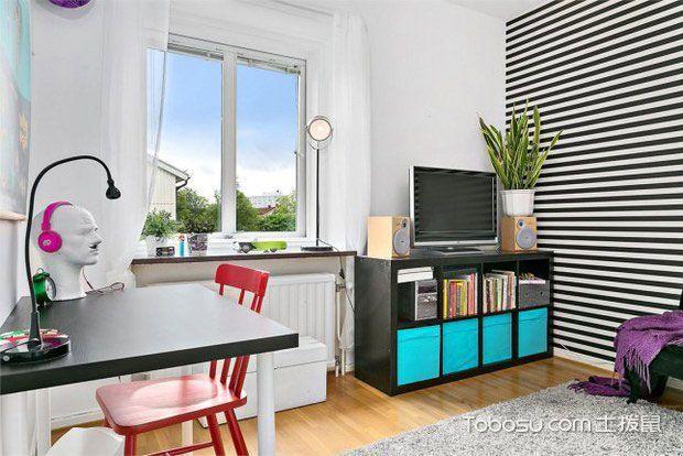 清新灰白色调 60平北欧公寓