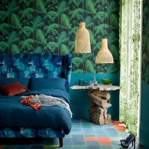 卧室床头柜混搭室内装饰