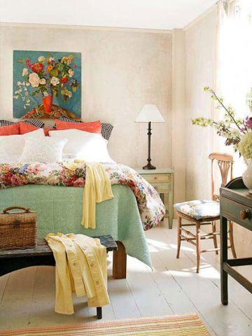 卧室床头柜混搭家装设计图