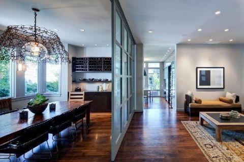 三居室158平米混搭风格装潢实景图片