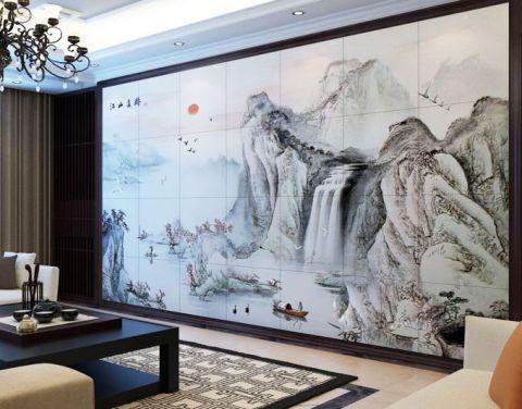 奢华大气黑色电视背景墙室内装修设计
