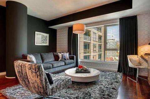 三居室118平米现代风格装潢实景图片