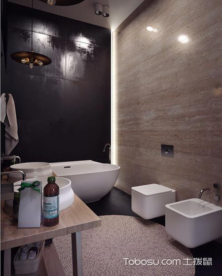 2018工业浴室设计图片 2018工业背景墙装修图片
