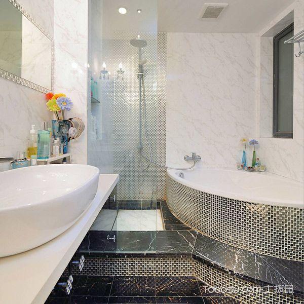 2018简欧浴室设计图片 2018简欧地砖设计图片