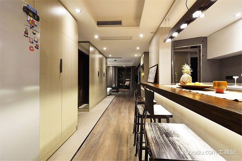 厨房白色吊顶新中式风格装饰效果图