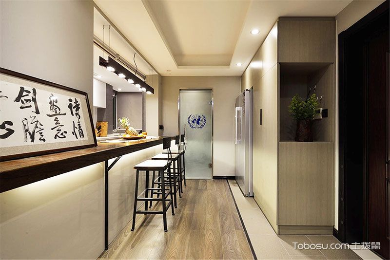 厨房白色吊顶新中式风格装修图片