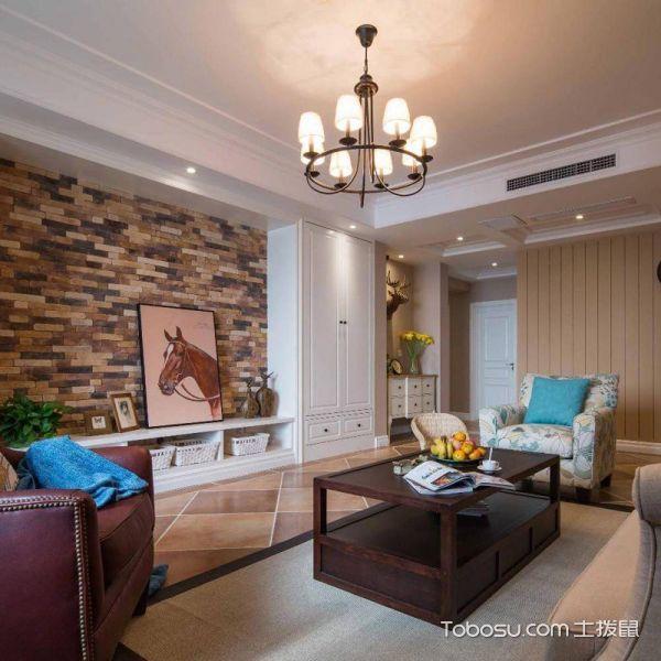 2018美式客厅装修设计 2018美式吊顶设计图片