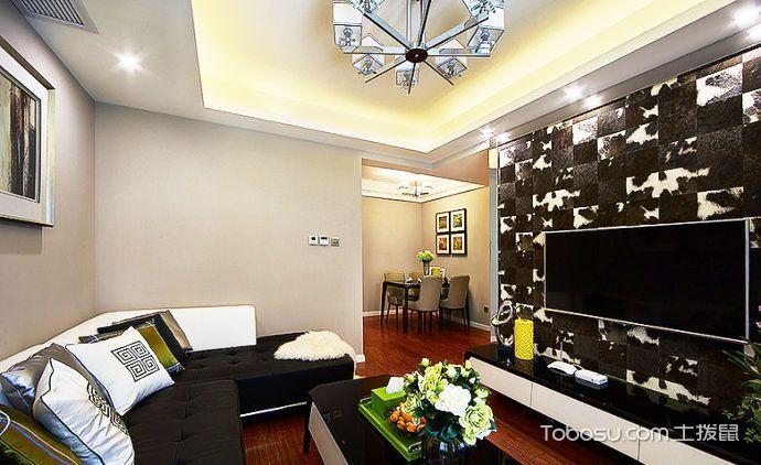 2018现代简约客厅装修设计 2018现代简约背景墙图片