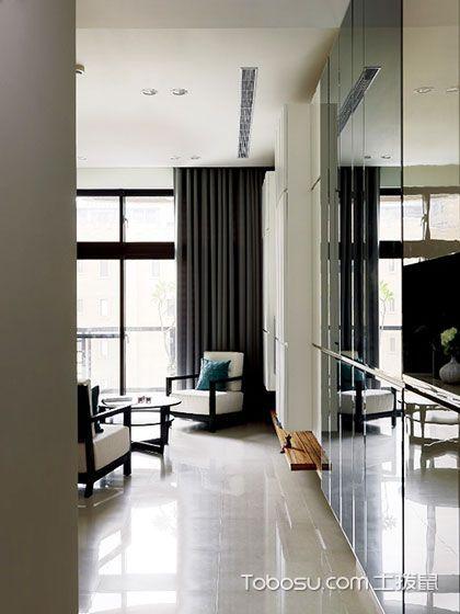 2018现代简约客厅装修设计 2018现代简约窗帘装修效果图片