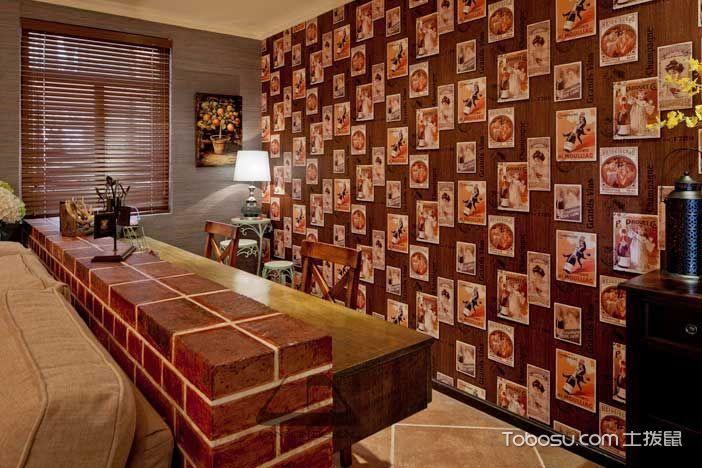 2018简约客厅装修设计 2018简约书桌装修图片