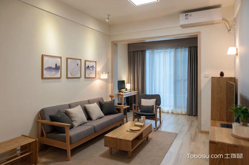 温馨秋意美家 80平日式风格小公寓装修
