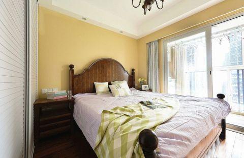 田园卧室背景墙装饰设计图片