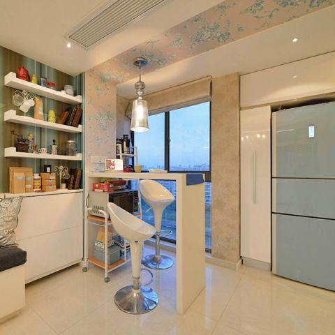 厨房白色吧台平面图