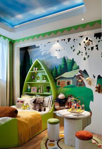 写意绿色儿童房设计图