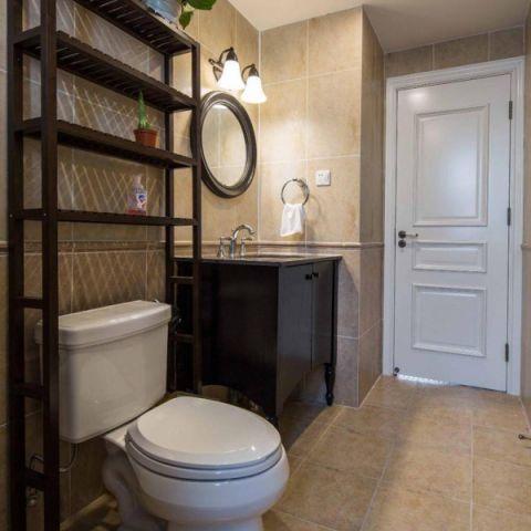 2018美式卫生间装修图片 2018美式浴室柜装修图片