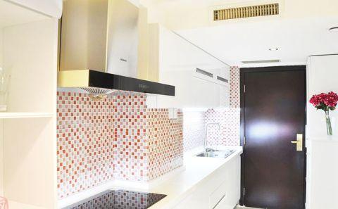 厨房白色吧台装修效果图大全
